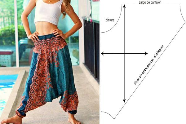 Como Hacer Un Pantalon Tipo Harem O Aladin Mi Mundo De Moda Cursos De Costura