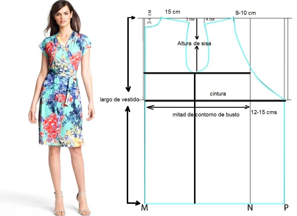 Vestido de dama cruzado, super fácil! – Mi Mundo De Moda – Costura ...
