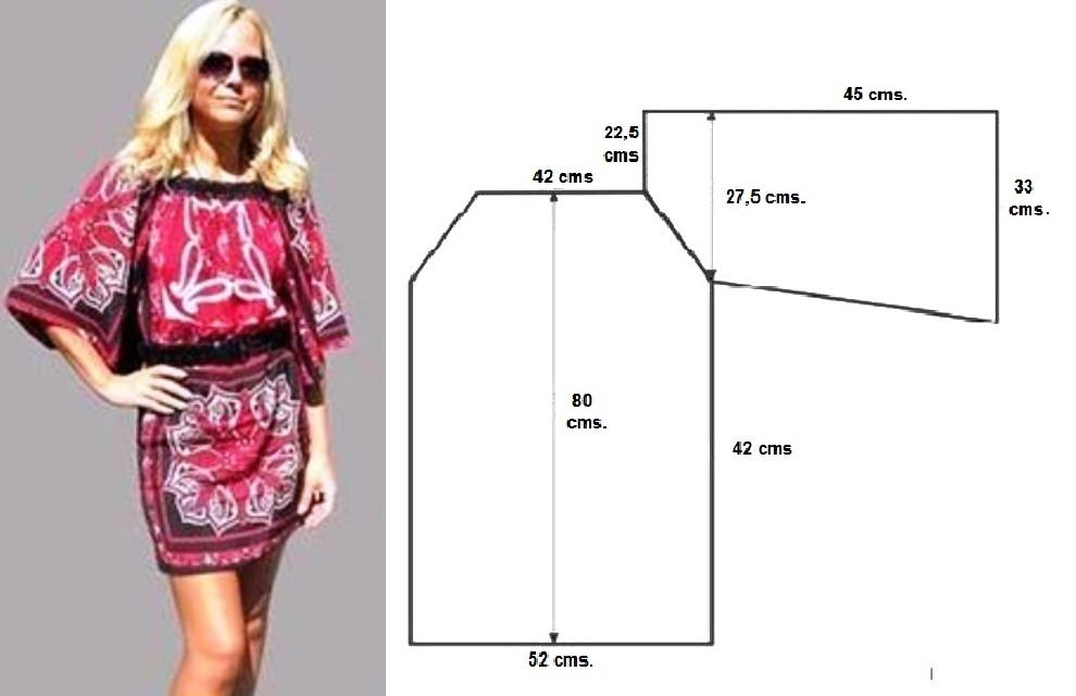 Cómo hacer un vestido de verano recto con manga campana. – Mi Mundo ...