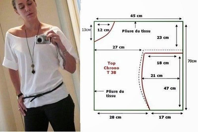 Blusa de dama manga enteriza con patrón y medidas! – Mi Mundo De ...