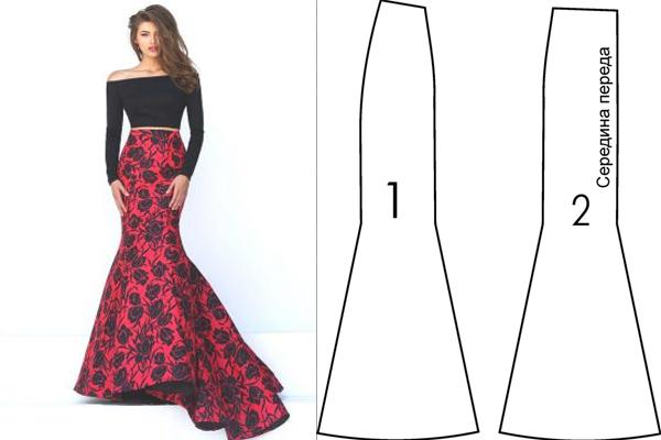 538addb62d Como hacer una falda larga tipo sirena