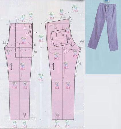 molde pantalon pijama
