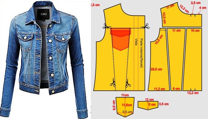 1689ee9b3f5f Chaqueta en Jeans de Mujer, Hazla en Casa! – Mi Mundo De Moda ...