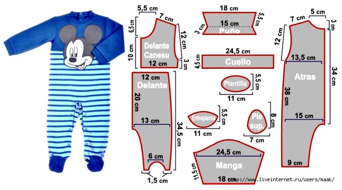 Pijama de bebé con patrónes! – Mi Mundo De Moda – Costura Corte y ...