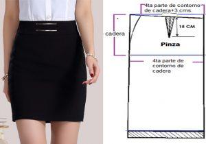 a66b91a19 Patrón de falda basica – Mi Mundo De Moda – Cursos Patrones Costura