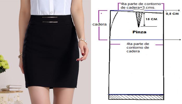 Aprende a hacer un patrón básico de falda, muy fácil! – Patrones De ...