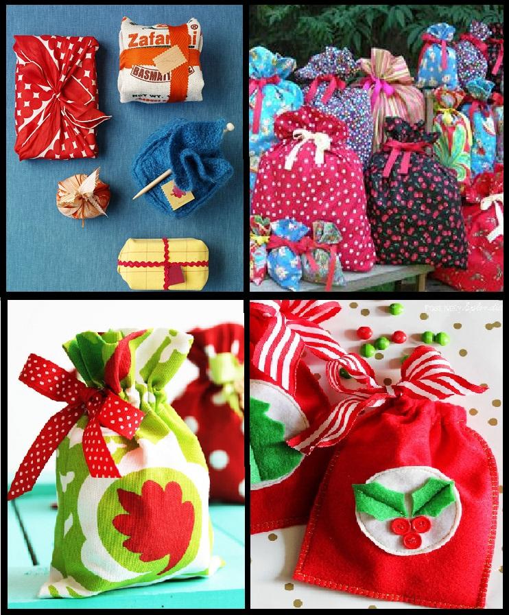 Hermosas Bolsas De Regalo En Tela Y Cinta Para Navidad Mi Mundo De Moda Cursos De Costura