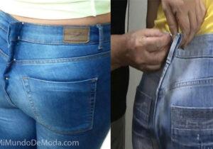 ajustar cintura de jeans paso a paso