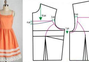 Patron vestido mujer recto