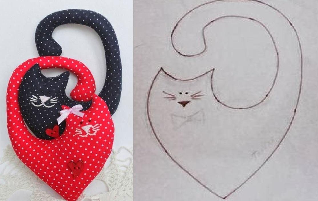 Gatos en Forma de Corazón para San Valentín, Muy Fácil de Hacer ...