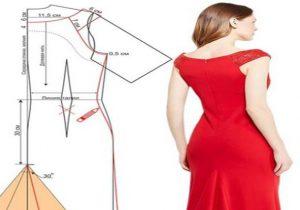 vestido largo con cola patrones
