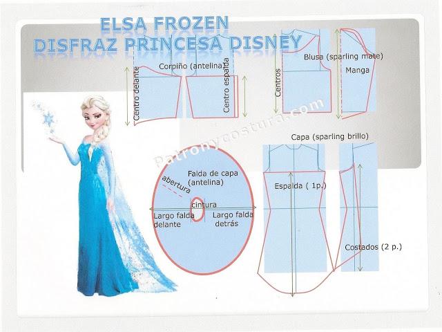 Haz un disfraz de Elsa Frozen con patrones. – Mi Mundo De Moda ...