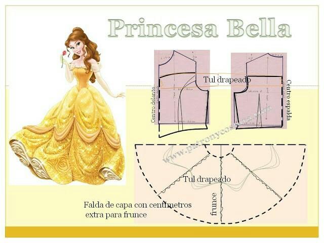Vestido de la Princesa Bella, Muy Fácil para Hacer en Casa! – Mi ...