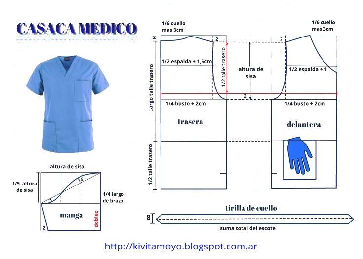 Uniforme de Médico con Patrones, Para Hacer en Casa! – Mi Mundo De ...