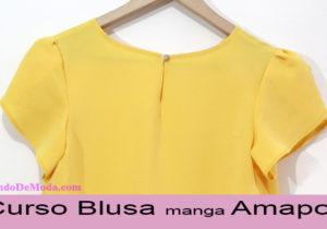 blusa manga amapola curso