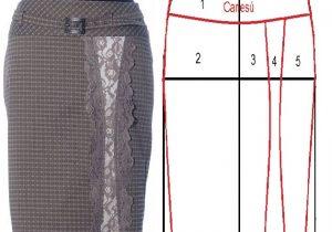 Image result for Falda Amplia Ceñida en las Caderas patrones