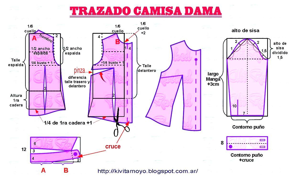 Tazado Camisa de Dama