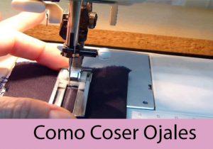 como coser ojales a maquina