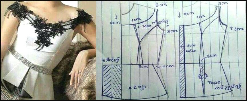 patrones corset