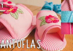 diy costura pantuflas