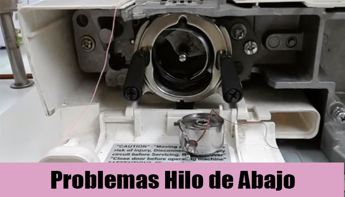 maquina coser hilo de abajo
