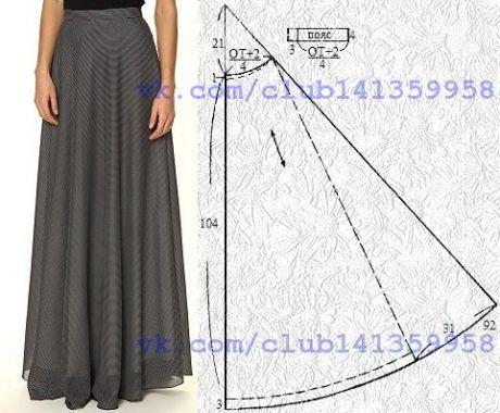 falda larga patron