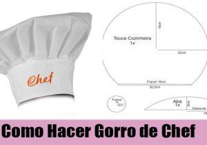 como coser gorro de chef