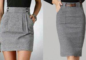 como hacer falda con bolsillos