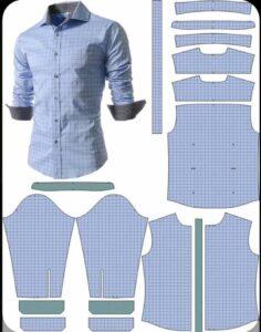 molde camisa hombre