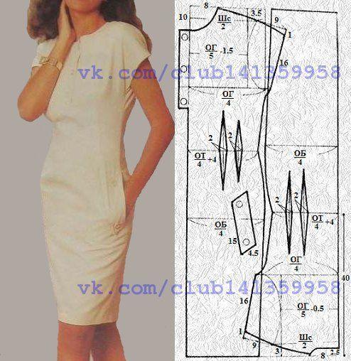 molde de vestido ajustado