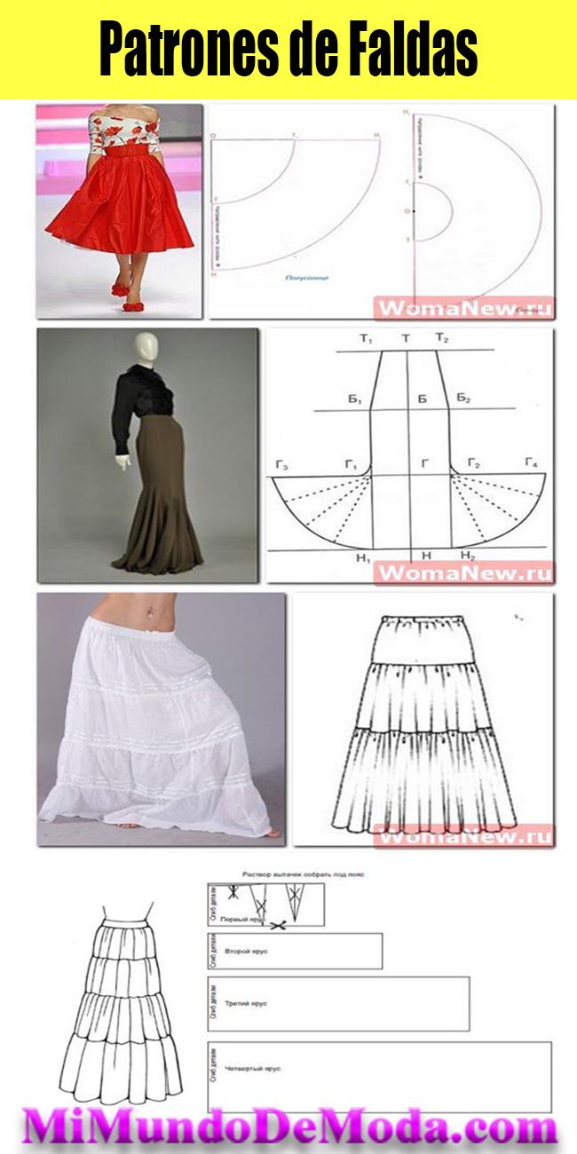 patrones y moldes de faldas