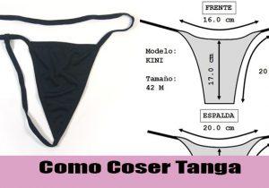 como coser tanga de mujer