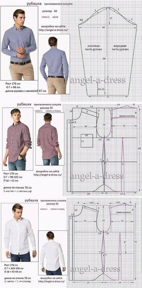 molde camisa de hombre