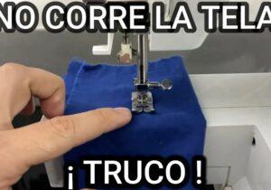 maquina de coser trucos en tela