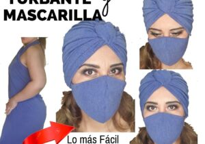 mascarilla con turbante