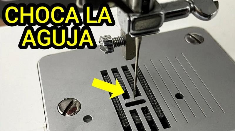 choca la aguja mecanica maquina de coser