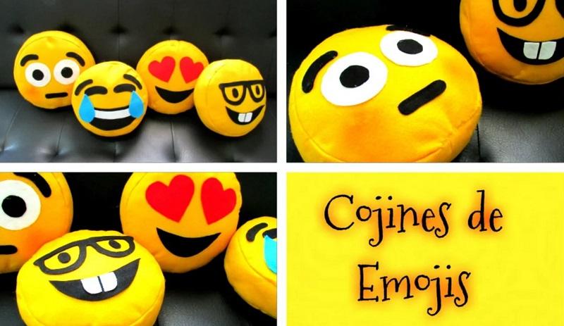 cojines emoji moldes patrones